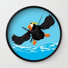 Bering Sea Puffins Wall Clock