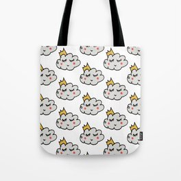 April showers king cloud White #nursery Tote Bag