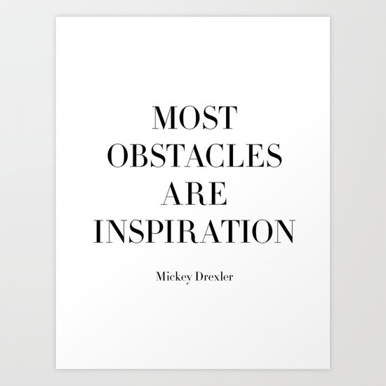 Obstacles Art Print