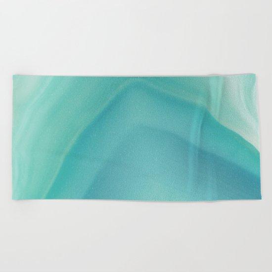 Geode Crystal Turquoise Beach Towel