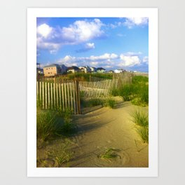Oceanfront Property Art Print