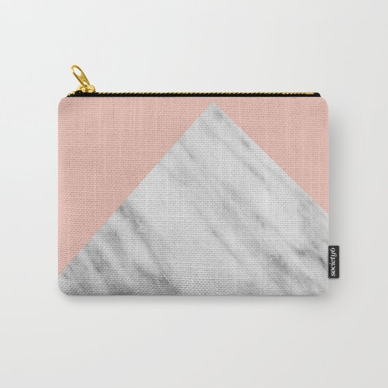 Pink Marble Collage Carry-All Pouch