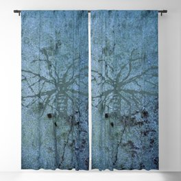 Blue Fly Blackout Curtain