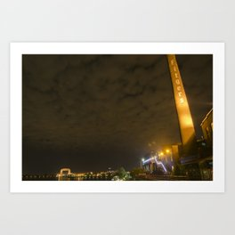 Nightscape at Fitgers Art Print
