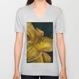 Golden Lily Unisex V-Neck