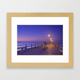 Kure Beach Pier Framed Art Print