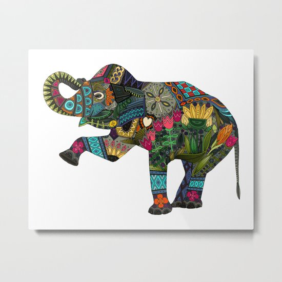 asian elephant white Metal Print