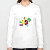 nfl Long Sleeve T-shirts featuring NFL Abstract by Franky Fleece