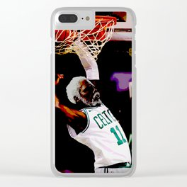 "Kyrie "" Uncle Drew "" Irving Dunk Art Clear iPhone Case"