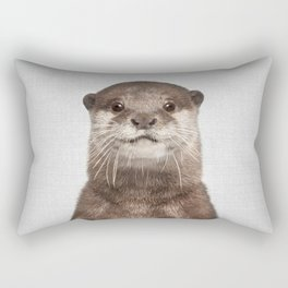 Otter - Colorful Rectangular Pillow