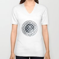 polka V-neck T-shirts featuring Polka Universe by Paula Belle Flores