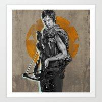 daryl dixon Art Prints featuring Daryl Dixon by Yan Ramirez