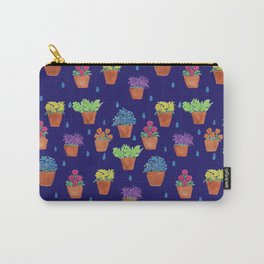 Colourful Flower Pots Pattern Carry-All Pouch