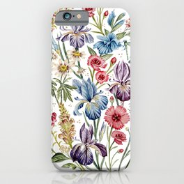 Wildflowers & Insects iPhone Case