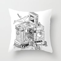 conan Throw Pillows featuring Worlds within Worlds by KadetKat