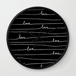 Love. Love. Love Wall Clock