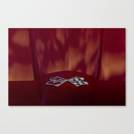 Vette in Flames Canvas Print