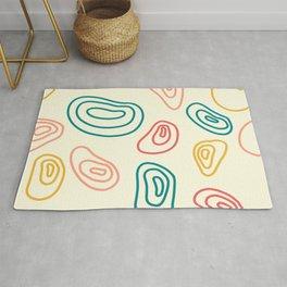 Circular Lines Abstract Shapes Pattern Rug