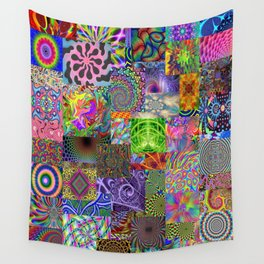 Psychedelic Montage Wall Tapestry