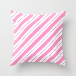 Rose Quartz Peppermint Throw Pillow
