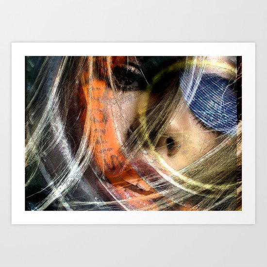 Celebrity Row - Billie Art Print