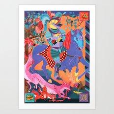 Picnic Knight Art Print