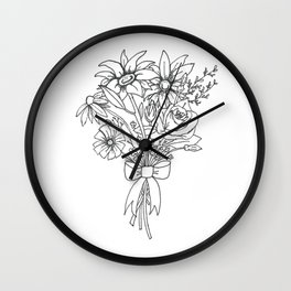 chlorophyll clots (white) Wall Clock