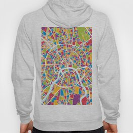 Moscow City Street Map Hoody