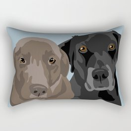 Two Labradors Rectangular Pillow