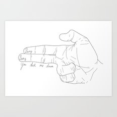 Bang bang, you shot me down Art Print