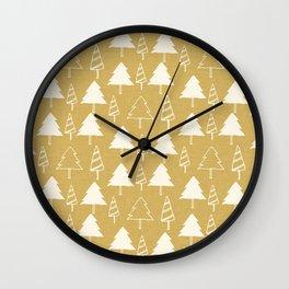 Christmas Tree Beige Wall Clock