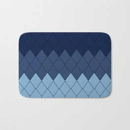 Blue rombs Bath Mat