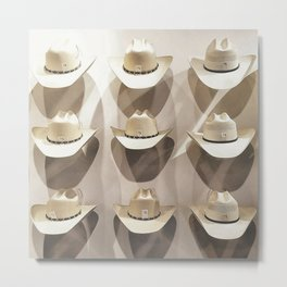 Cowboy hat collection Metal Print