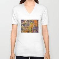 chaos V-neck T-shirts featuring Chaos by BruceStanfieldArtistPainter