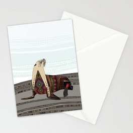 sea lion mono Stationery Cards