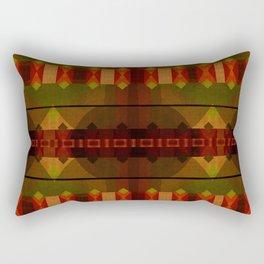 """Full Colors Tribal Pattern"" Rectangular Pillow"