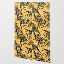 Black Palm Leaves Dream #6 #tropical #decor #art #society6 Wallpaper