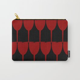 Vino - Red on Black Carry-All Pouch