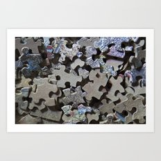 Puzzle Pieces Art Print