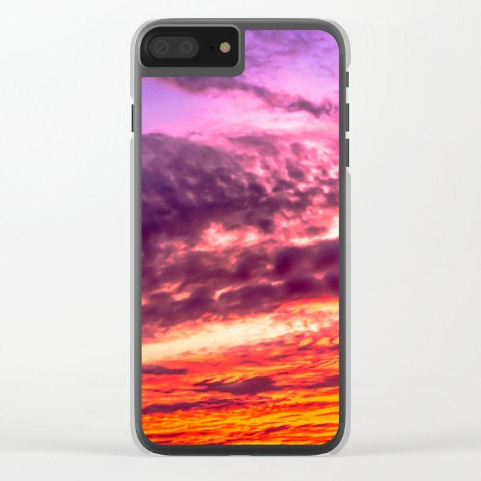 Sunset sky Clear iPhone Case