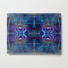 Butterfly mask geometry III Metal Print
