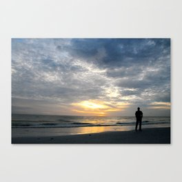 Walk into the sunset.. Canvas Print