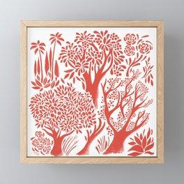 Red Forest Framed Mini Art Print