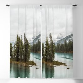 Emerald Spirit Island | Landscape Photography | Maligne Lake | Jasper Alberta Blackout Curtain