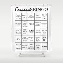 Corporate Jargon Buzzword Bingo Card Shower Curtain