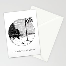 A Hard Day At Work Stationery Cards