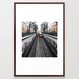 love - the yello metro. Framed Art Print