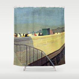 Felix Vallotton -  Le Pont Neuf (new color editing) Shower Curtain
