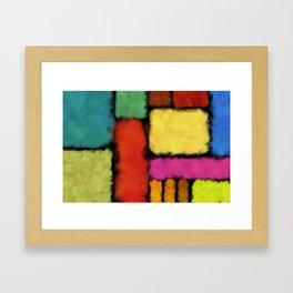 Tracks of colors Framed Art Print