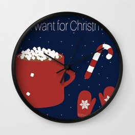 All I want for Christmas... Wall Clock